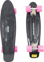 SWASS Vinyl Cruiser - Skateboard Penny Retro - Zwart/Roze