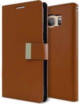 Mercury Rich Dairy Wallet case voor Samsung Galaxy S7 - Bruin
