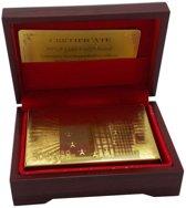 Luxe Goud Kleurige Speelkaarten - Poker Kaarten Set Kaartspel - Plastic Playing Cards Geplastificeerd