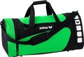 Erima Sporttas Club 5 Line Groen/ Zwart Maat M