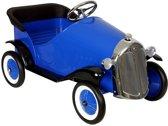 Metalen Trapauto Sedan De Luxe - Blauw