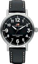 River Woods RW420001 Sacramento horloge Heren - Zwart - Leer 42 mm