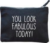 Make-up tasje zwart | You look fabulous today