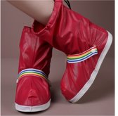 LAKE SIDE Rain Shoe Cover with strap red L