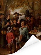 De tandentrekker - Schilderij van Jan Steen Poster 120x160 cm - Foto print op Poster (wanddecoratie woonkamer / slaapkamer) XXL / Groot formaat!