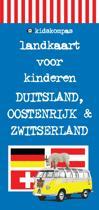 KidsKompas - Landkaart voor kinderen Duitsland, Oostenrijk & Zwitserland