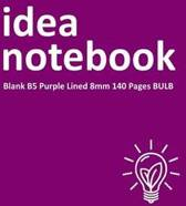Idea Notebook Blank B5 Purple Lined 8mm 140 Pages Bulb