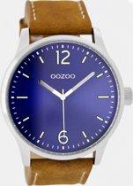 OOZOO Timepieces C9046 - Horloge - Bruin/Blauw/RVS - 46mm