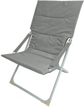 Royal Patio relaxfauteuil Sellin - lichtgrijs/wit