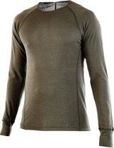 Armadillo Merino - Falcon - Raptor Long Sleeve Crew Neck Shirt -Olive