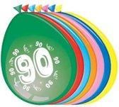 Ballonnen 90 jaar - 30cm -  8st