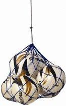 Sportec Nylon Draagnet 10/12 Ballen Blauw