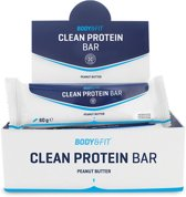 Body & Fit Clean Protein bar - Eiwitreep - 1 doos (12 eiwitrepen) - Peanut Butter