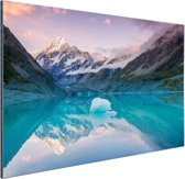 FotoCadeau.nl - De Mount Cook van Nieuw Zeeland Aluminium 30x20 cm - Foto print op Aluminium (metaal wanddecoratie)