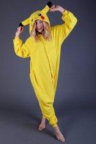 KIMU Onesie Pikachu Pokemon pak kostuum - maat S-M - Pikachupak jumpsuit huispak festival