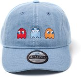 Pac-man - 2D Embroidery Stone Washed Denim Dad Cap