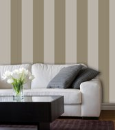 Dutch Wallcoverings Vliesbehang streep - beige