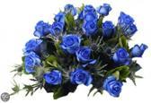 Boeket 10 blauwe rozen