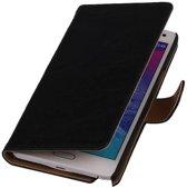 Samsung Galaxy S Hoesje Washed Leer Bookstyle Zwart