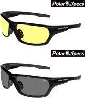 Combinatievoordeel Polar Specs® Polariserende Nachtbril + Polariserende Zonnebril Atmosphere PS9025 – Shiny Black – Polarized – Medium – Unisex