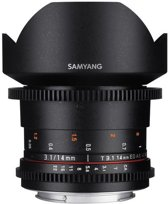 Samyang 14mm T3.1 VDSLR II - voor Nikon