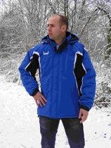 KWD Coachjas Fresco - Kobaltblauw/zwart/wit - Maat S