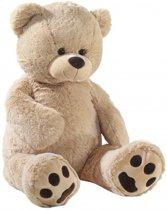 Afbeelding van Grote pluche knuffelbeer beige 100 cm speelgoed