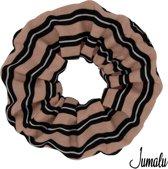 Jumalu sailor scrunchie velvet haarwokkel haarelastiekjes - roze, zwart en wit - 1 stuk