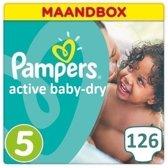 Pampers Active Baby Dry Luiers - Maat 5 - 126 - Maandbox