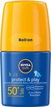 NIVEA SUN Kids Zonnecrème - Hydraterende Roll-on Zonnecrème - SPF 50+ - 50 ml