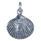 Zilveren Schelp ketting hanger