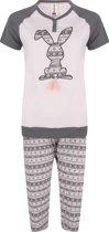 Rebelle meisjes pyjama grijs roze