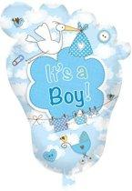 Babyvoetje It's a Boy! geboorteballon