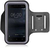 Nokia 6 Sportband Zwart Hoesje Hardloop Sportarmband