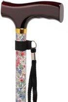 Wandelstok - Premium wit/bloemen, 76 - 99 cm
