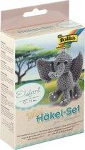 7x Folia mini-haakset olifant