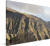 Berglandschap van het Nationaal park Garajonay in Spanje Canvas 180x120 cm - Foto print op Canvas schilderij (Wanddecoratie woonkamer / slaapkamer) XXL / Groot formaat!