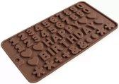 Letter vorm - Mal voor happy birthday letters en cijfers - Voor chocolade - praline - krijt of zeep - Siliconen