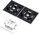 Plakzadels voor kabelbinders 28x28 zwart (100st)