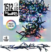 Clusterverlichting 1512 LED 11m multicolor