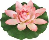 Decoratie Waterlelie paars 28 cm
