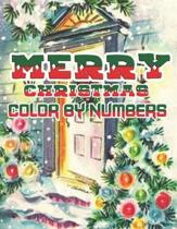 Merry Christmas Color By Numbers: a beautiful colouring book with Christmas designs on a black background, for gloriously vivid colours