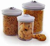 FoodSaver FSC003-I Rond  Transparante Voorraaddozen 0.7, 1.4 en 2.4 liter