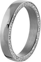 Lucardi - Stalen ring met zirkonia