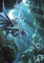 Anne Stokes Wenskaart Water Dragon
