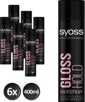 SYOSS Gloss Hold Haarspray 400 ml - 6 stuks - Voordeelverpakking