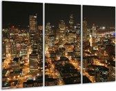Canvas schilderij Steden | Geel, Wit, Bruin | 120x80cm 3Luik