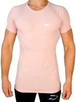 Fitness T-Shirt   Licht Roze (S) - Disciplined Sports