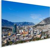De bergketen van de Sierra Madre Oriental is overal in de Mexicaanse stad Monterrey te zien Plexiglas 180x120 cm - Foto print op Glas (Plexiglas wanddecoratie) XXL / Groot formaat!
