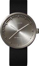 LEFF amsterdam tube watch D42 - Stainless Steel - Steel Case - Black leather strap - Ø 42mm - LT72001 - Quartz Movement